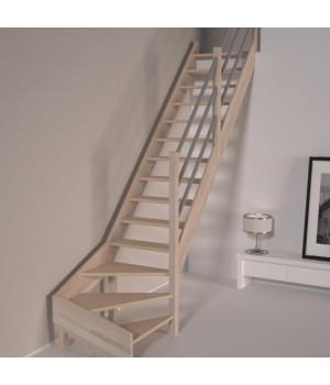 Деревянная лестница DOLLE Savoie C забежная