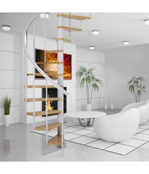 Винтовая лестница DOLLE Calgary Белая Ø120 см